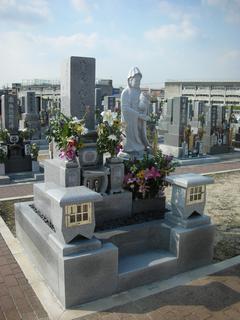 八寸墓石工事・観音様立像工事