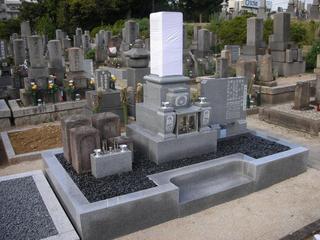 八寸墓石・墓誌工事