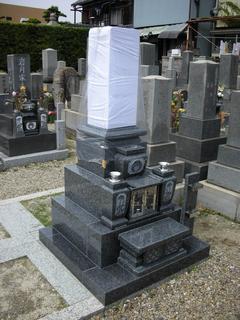 八寸角墓石新型香炉・収納型
