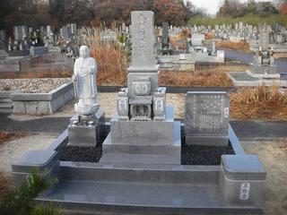 八寸墓石工事・お地蔵様立像工事